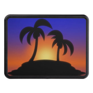 Palm Tree Sunrise Tow Hitch Covers