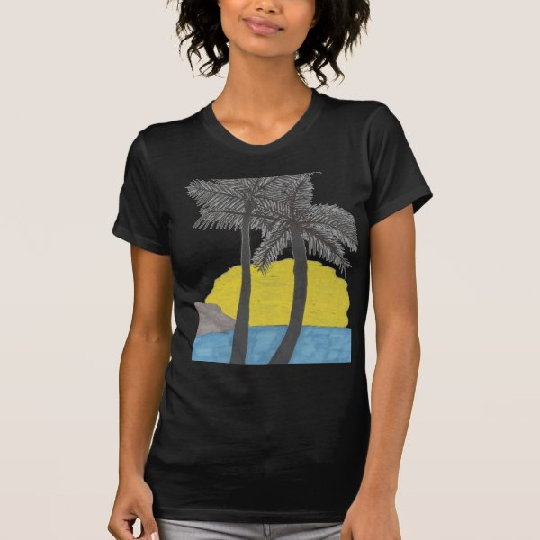 Palm Tree Sunrise Tshirt