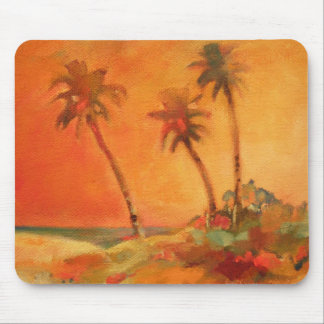 Palm Tree Sunset Beach Dunes Mouse Pad