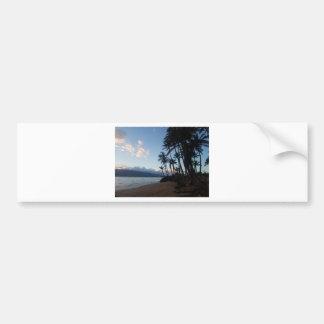 Palm Tree Sunset Bumper Sticker