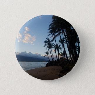 Palm Tree Sunset Button