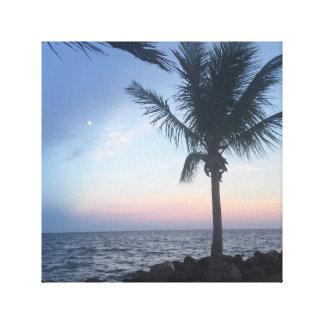 Palm Tree Sunset Canvas Print