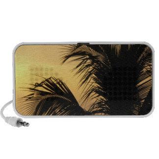 Palm Tree Sunset Doodle speaker