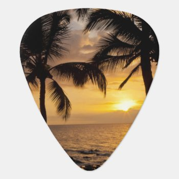 Palm Tree Sunset Guitar Pick by DanitaDelimont at Zazzle