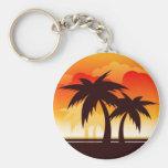 Palm Tree Sunset - Key Chain