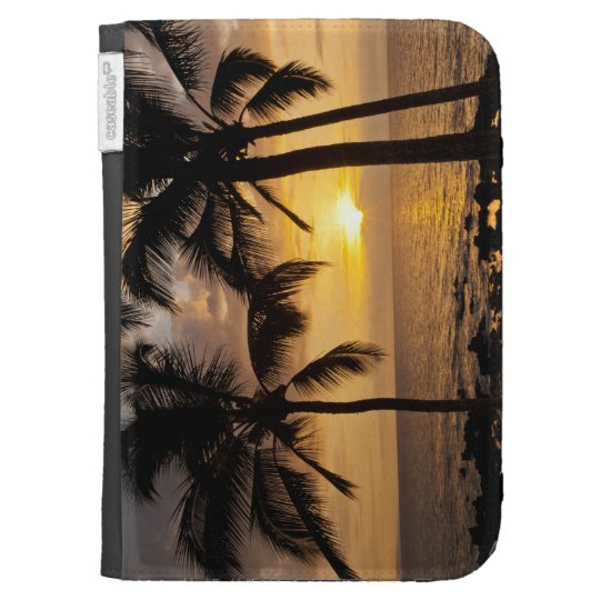 Palm tree sunset kindle 3 covers