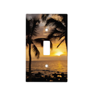Palm tree sunset light switch covers
