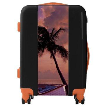 Beach Themed Palm Tree Sunset Luggage