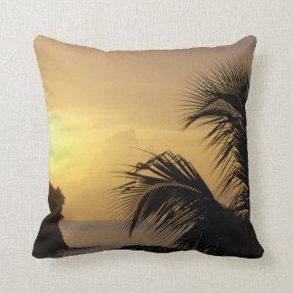 Palm Tree Sunset Pillow