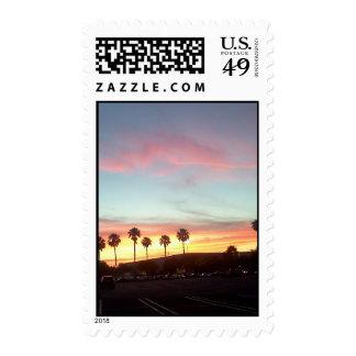 Palm Tree Sunset Postage