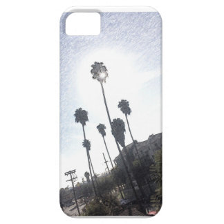 Palm Tree Sunshine Sketch iPhone Case