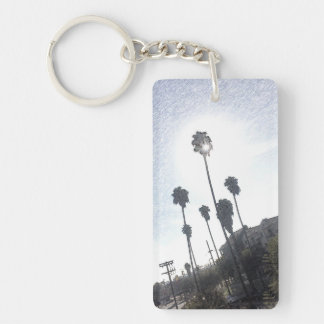 Palm Tree Sunshine Sketch Keychain