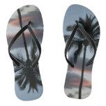 Palm Tree Surfer Flip Flops