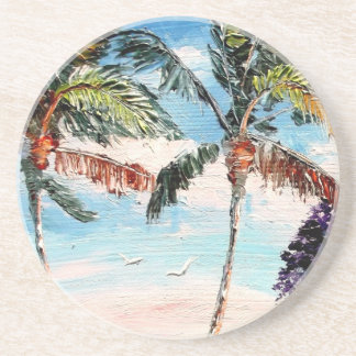 Palm Tree Top Drink Coasters