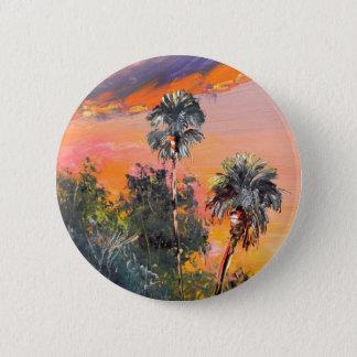 Palm Tree Tops - Fire sky Button