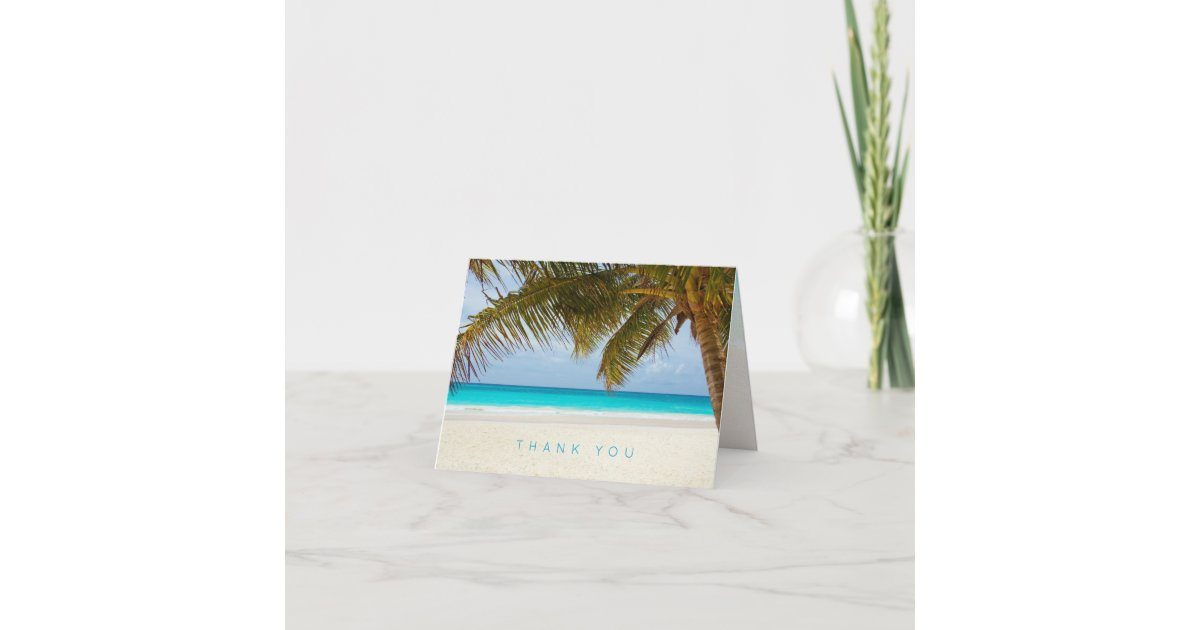 Tropical Beach Note Cards