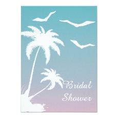 Palm tree tropical beach wedding bridal shower 5