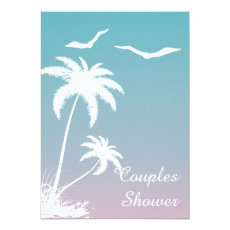 Palm tree tropical beach wedding couples shower 5