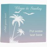 Palm tree tropical beach wedding planner binder
