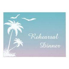 Palm tree tropical beach wedding rehearsal dinner 5
