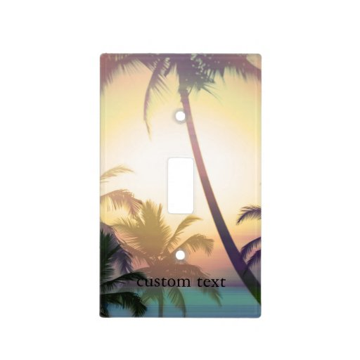 Palm Tree Tropical Heat Beach Light Switch Cover Zazzle