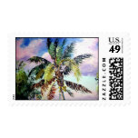 Palm Tree Tropical Postage Stamps