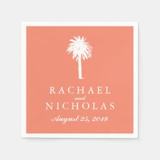 Palm Tree Tropics | Wedding Paper Napkin