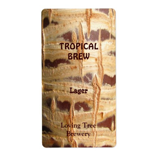 Palm Tree Trunk ~ Beer Bottle Label
