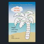 """Palm Tree Vacation Target Poster<br><div class=""""desc"""">Going on vacation? Or raising funds for a school trip? Color in each segment of the palm tree as your reach that goal. Complete the palm tree and you are ready for some tropical time! This breezy graphic can help motivate you to save toward that all-important financial goal. Mmmm, just...</div>"""