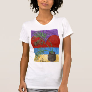 Palm Tree Valentine Shirt by Julia Hanna