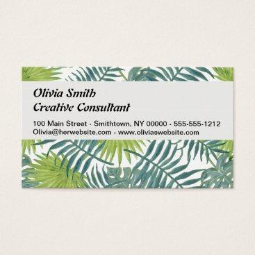 Beach Themed Palm Tree Vintage Hawaiian Print Art Business Card