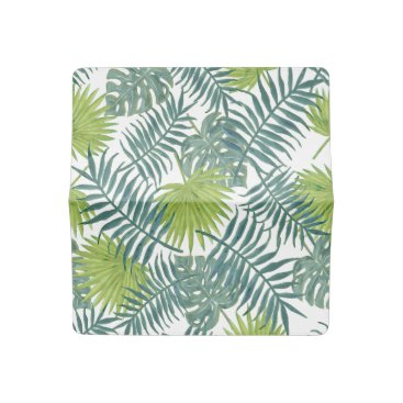 Beach Themed Palm Tree Vintage Hawaiian Print Art Checkbook Cover