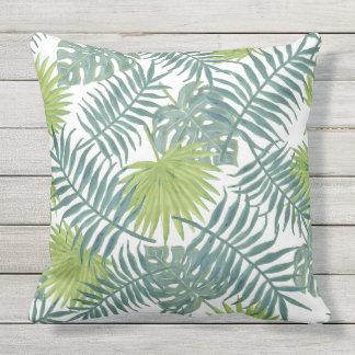 Palm Tree Vintage Hawaiian Print Art Throw Pillow