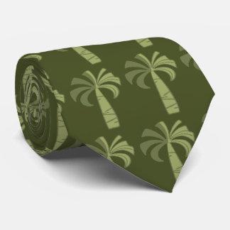 Palm Tree Vintage Hawaiian Two-sidedPrinted Neck Tie