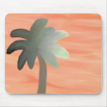 Palm Tree Watercolor Mouse Pad