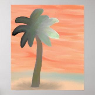 Palm Tree Watercolor Print