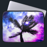 "Palm Tree Waterproof Laptop Sleeve (P &amp; B Edition)<br><div class=""desc"">This tropical design features a palm tree silhouette original photograph with a fun,  and vibrant twist!</div>"