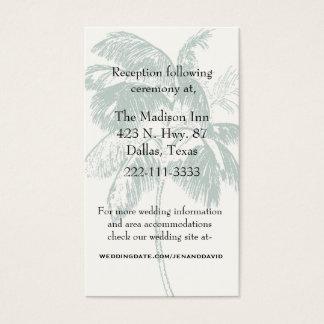 Palm Tree Wedding Enclosure Card