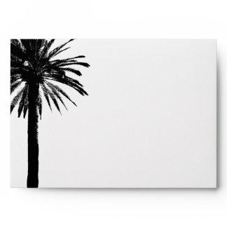 Palm tree wedding envelopes