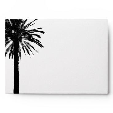 Beach Themed Palm tree wedding envelopes