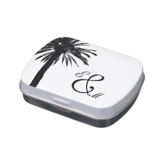 Palm tree wedding favor | Elegant candy tins