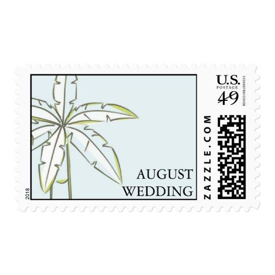 Palm Tree Wedding Postage Stamp