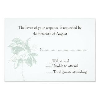 "Palm Tree Wedding Response Card 3.5"" X 5"" Invitation Card"