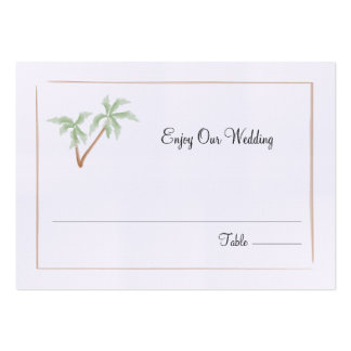Palm Tree Wedding Seating / Escort Card Large Business Cards (Pack Of 100)