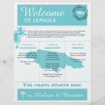 Palm Tree Wedding Welcome Letter for Jamaica