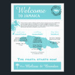 "Palm Tree Wedding Welcome Letter for Jamaica Letterhead<br><div class=""desc"">Have fun with your destination themed wedding. Palm Trees and Map of Jamaica in colors of Colors are Light Turquoise and White. If the color scheme is not what you wanted please email paula@labellarue.com BEFORE YOU CUSTOMIZE OR PLACE AN ORDER. Please make sure you proof your design before submitting your...</div>"