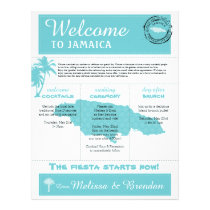Palm Tree Wedding Welcome Letter for Jamaica Letterhead