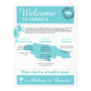 Palm Tree Wedding Welcome Letter For Jamaica Letterhead at Zazzle