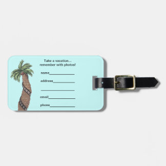 Palm Tree With Film Roll Wrapped Around Luggage Ta Bag Tag