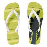 Palm tree with stripes flip flops